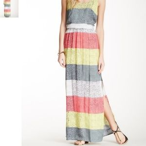 Splendid Colorblock Racerback Maxi Dress